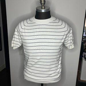 Uniqlo - Men's Striped Short Sleeve Sweater - M